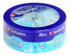 Диск CD-R Verbatim 700Mb 52x extra protect wagon wheel (25шт) 43726
