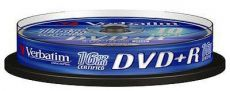 Диск DVD+R Verbatim 4.7Gb 16x Cake Box (10шт) 43498
